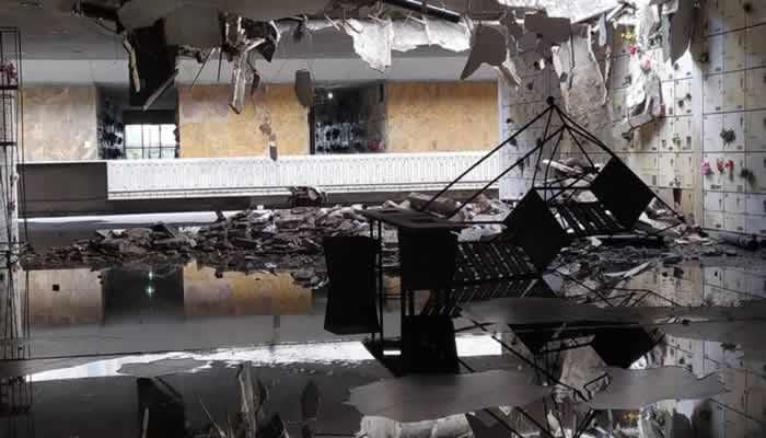 Cementerios de la Ciudad: se derrumbó el techo del sector de nichos y denuncian que faltan obras