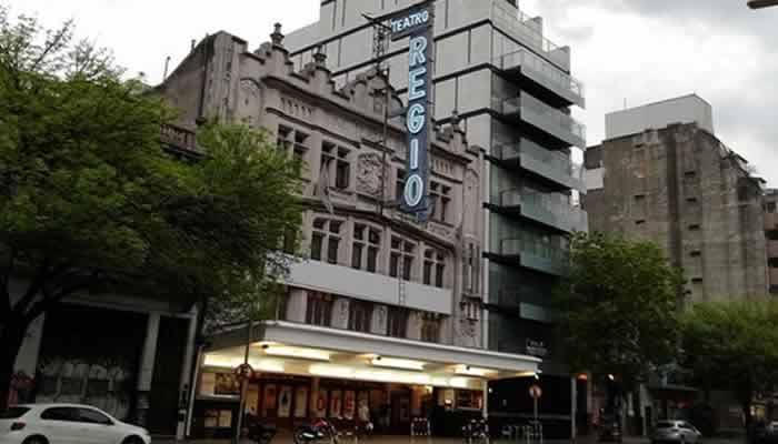 Removieron el cartel de la fachada del Teatro Regio