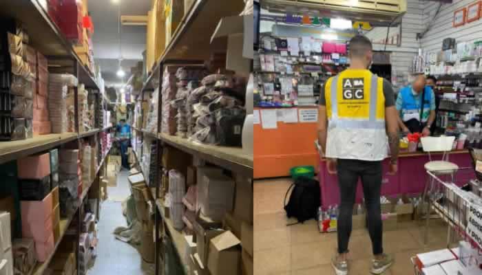 Más de 11.000 productos de perfumería y accesorios ilegales secuestrados y dos clausuras