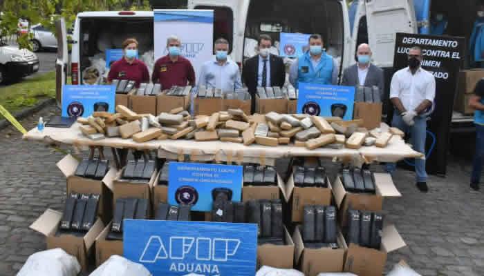 La Policía de la Ciudad quemó cinco toneladas de marihuana y 9 kilos de cocaína de los operativos