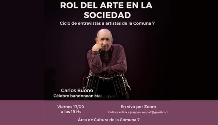 ¿Cuál es el rol del arte en la sociedad? junto a Carlos Buono