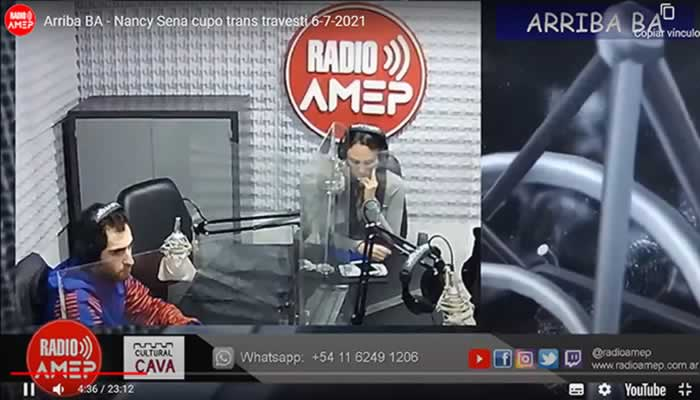 Arriba BA con María Martínez entrevistó a Nancy Sena, quien se refirió al cupo Trans