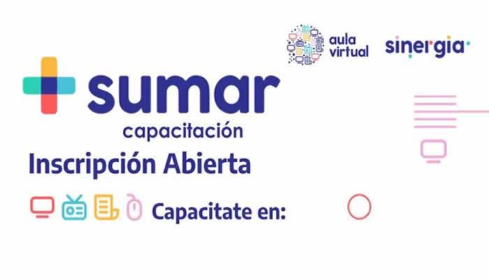 Segunda edición de los cursos de SUMAR Capacitación en el Aula Virtual de SINERGIA