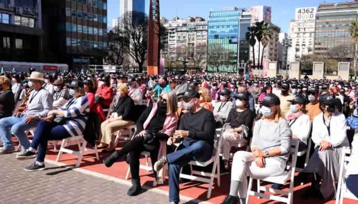 El Jefe de Gobierno de La Ciudad asistió al primer concierto al aire libre del Teatro Colón
